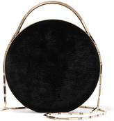 Eddie Borgo Chet Minaudiere Leather-trimmed Velvet Shoulder Bag - Black