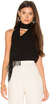 BCBGMAXAZRIA Scarf Drape Tank in Black. - size L (also in M,XS)