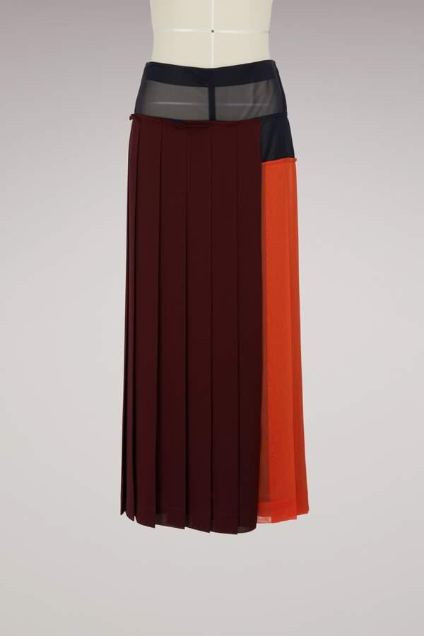 Victoria Beckham Long pleated skirt