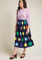 ModCloth Friends Over Pho Midi Skirt in XL - Full Skirt Long
