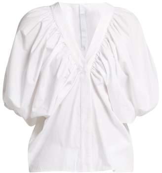 Merlette New York Este Cotton-poplin Blouse - Womens - White