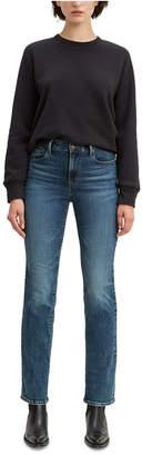 Levi's Women Straight-Leg Mid-Rise Jeans