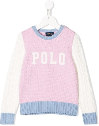 Ralph Lauren Kids Colour-Block Logo Jumper