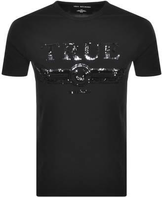 True Religion Trucci Sequin Logo T Shirt Black