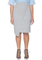 ELOQUII Plus Size Asymmetrical Textured Skirt
