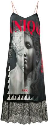 Pinko Graphic Printed Slip Dress