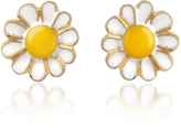 A-Z Collection Garden Line - Daisy Enamel Earrings