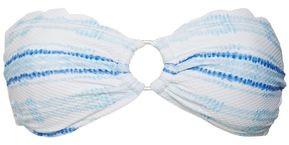 Heidi Klein Scalloped Striped Bandeau Bikini Top