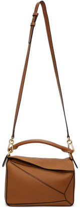 Loewe Tan Grained Small Puzzle Bag
