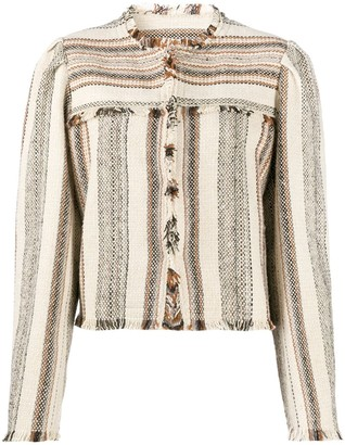 Etoile Isabel Marant Striped Cropped Jacket