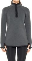 Max Studio Bonded Jersey & Faux Fur Pullover