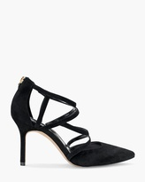 White House Black Market Suede Caged Heels