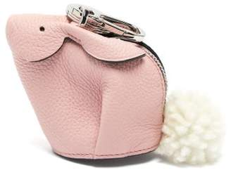 Loewe Bunny Coin Purse Leather Key Ring - Womens - Pink