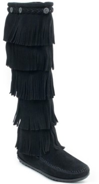 Minnetonka 5 Layer Fringe Narrow Boot Women's Shoes