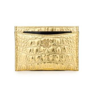 Chanel Timeless/Classique Gold Leather Purses, wallets & cases
