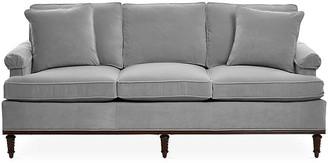 Michael Thomas Collection Garbo Sofa - Gray Velvet