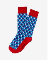 Express geo print dress socks