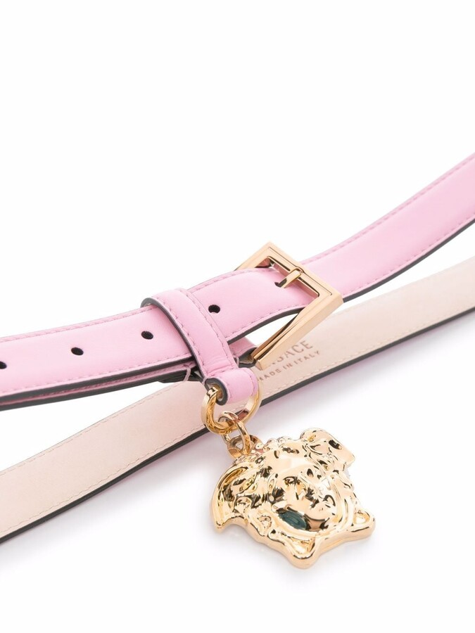 Thumbnail for your product : Versace La Medusa leather belt