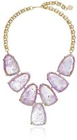 """Kendra Scott Signature"""" Harlow Gold plated Amethyst Necklace, 21.5"""" - Limited Edition"""