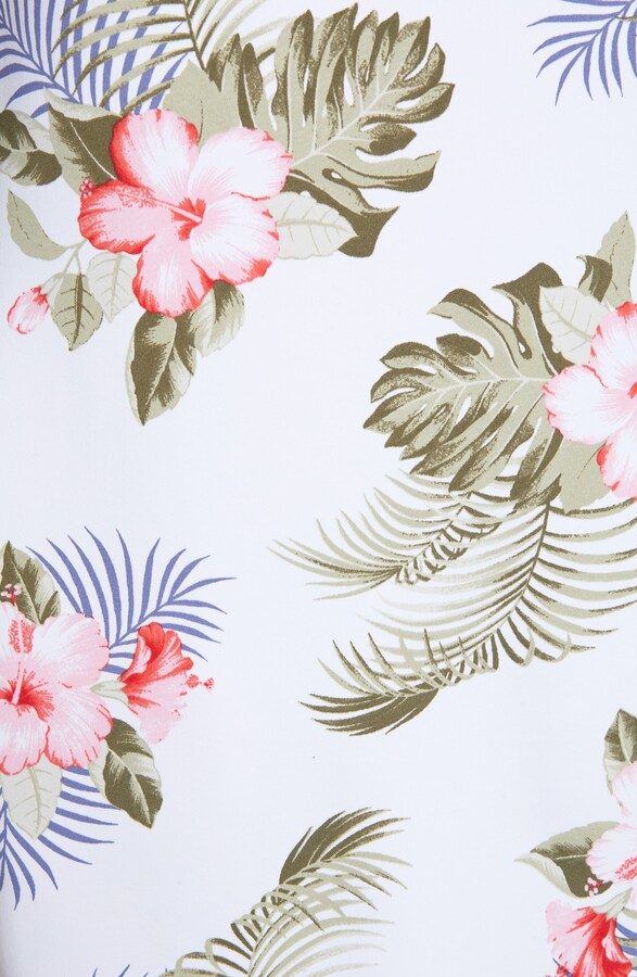 Thumbnail for your product : Tommy Bahama IslandZone(R) Performance Hibiscus Print Sleeveless Shift Dress