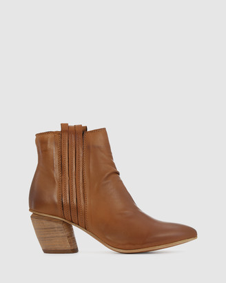 EOS Women's Brown Heeled Boots - Atis - Size One Size, 40 at The Iconic