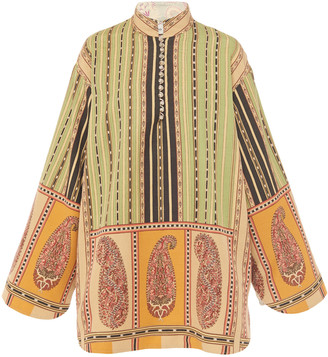 Etro Printed Silk-Blend Mini Dress