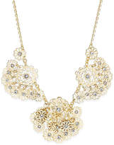 Kate Spade Gold-Tone Crystal Flower Statement Necklace