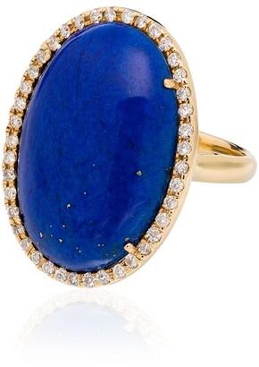 Kimberly 18kt Yellow Gold Lapis Lazuli Diamond Ring