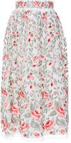 Vilshenko Marianne Embroidered Organza Skirt