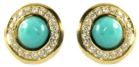 Ippolita 18K Yellow Gold Turquoise Diamond Mini Stud Earrings