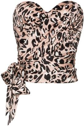 Alexandre Vauthier leopard print bustier top