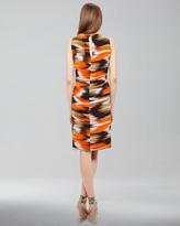 Akris Punto Ikat-Print Silk Dress