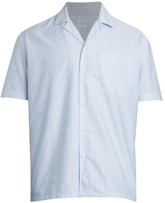 eidos Horizontal Stripe Pocket Shirt