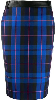 Boutique Moschino Check Pencil Skirt
