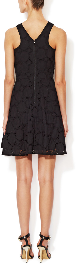 Cotton Eyelet Fit and Flare Dress