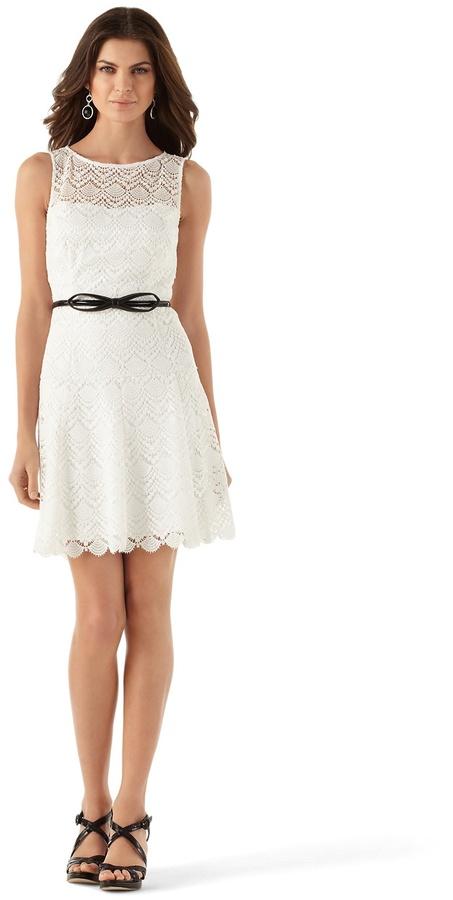 White House Black Market Lace Overlay Dress