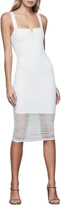 Good American Sleeveless Sheer Smocked Midi Dress