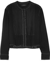 Isabel Marant Pelona Beaded Pleated Cotton-Gauze Blouse