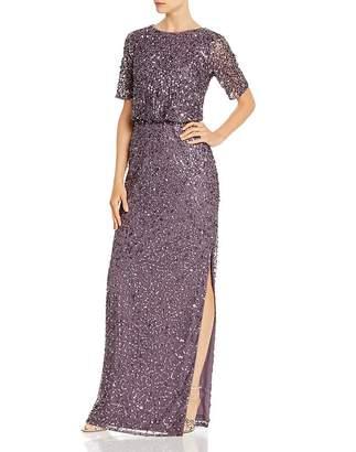 Adrianna Papell Beaded Floor-Length Gown
