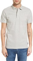French Connection Men's Menon Block Stripe Polo