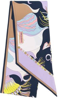 Emilio Pucci Mirabilis Print Silk-Twill Scarf