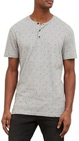Kenneth Cole Reaction Men's Short Sleeve Geo Print Henley