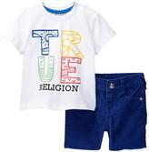 True Religion Beach Doodle Tee & Short Set (Baby Boys)