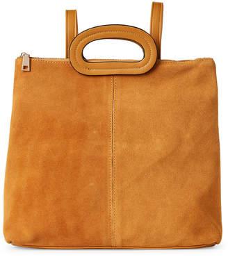Moda Luxe Mustard Brooklyn Suede Trim Backpack