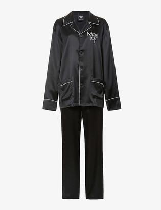 More Joy print silk-satin pyjama set