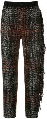 À La Garçonne Fringed Tweed Trousers