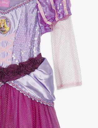 Dress Up Rapunzel costume and tiara 7-8 years