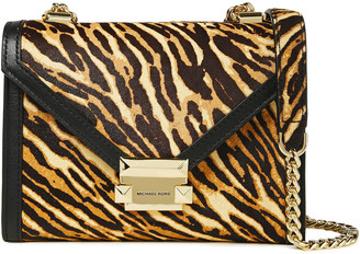 MICHAEL Michael Kors Whitney Tiger-print Calf Hair And Leather Shoulder Bag
