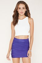 Forever 21 FOREVER 21+ Textured Knit Mini Skirt