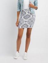 Charlotte Russe Boho Print Bodycon Mini Skirt